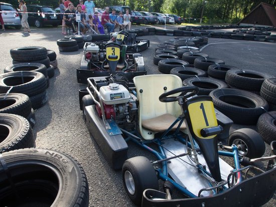 Hotel Stary Mlyn: The go-kart track on the hotel grounds provides good entertainment value