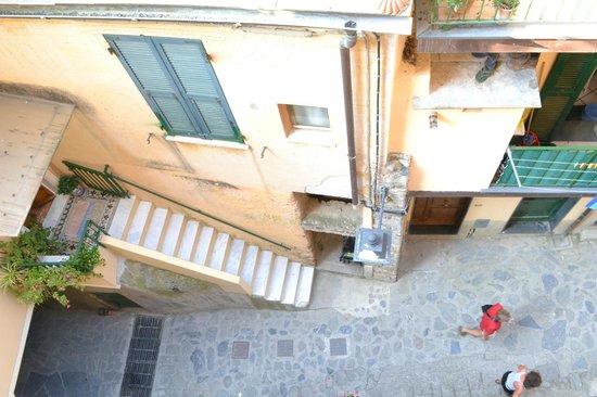 Albergo Marina : View down from my balcony