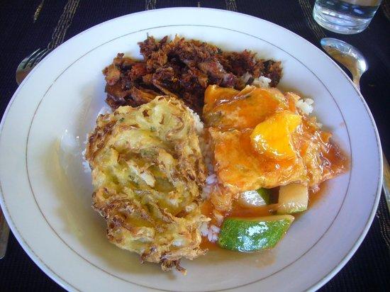 Bunaken SeaGarden Resort: our meal