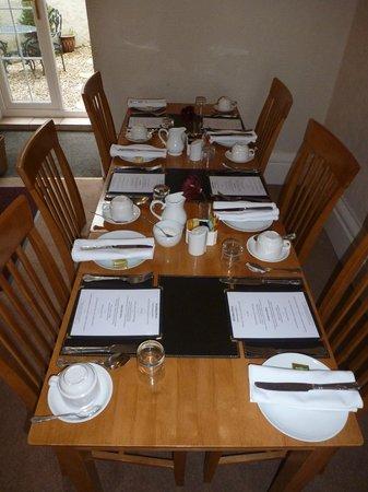 Burleigh House: Dinning room
