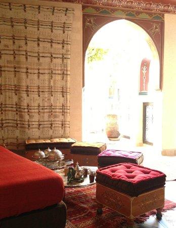 "Riad Dar Anika : In love with this ""tea corner"""