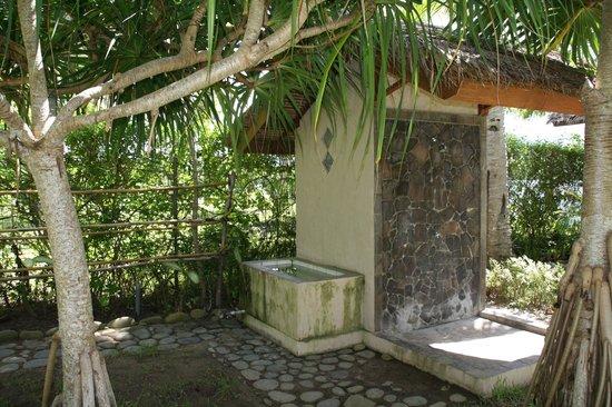 The Lodge @ Belongas Bay : Zone für Tauchequipment