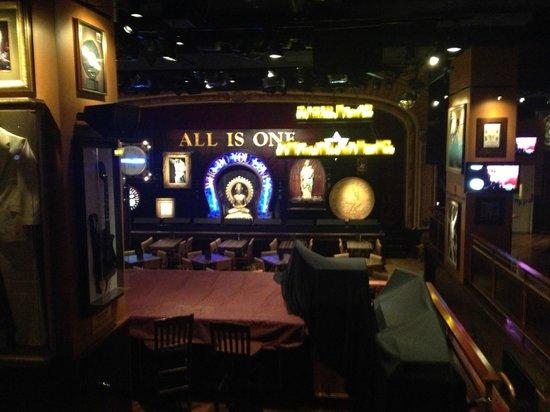 Hard Rock Cafe: stage area.