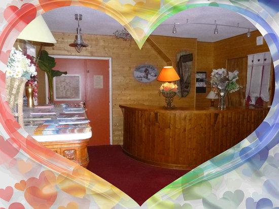 Hotel Le Blanchon: Réception