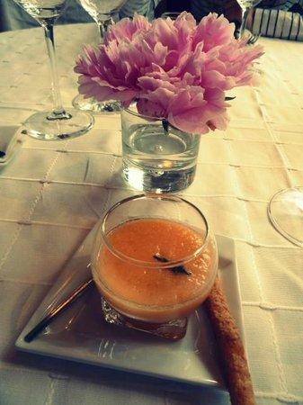 restaurant l'eden : Gaspacho de melon