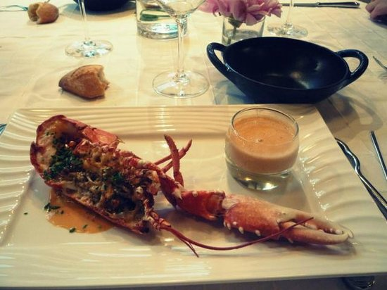 restaurant l'eden : Homard et sa sauce corail
