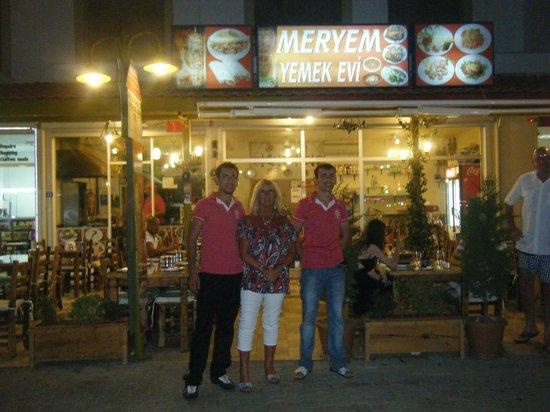 Meryem Turkish Restaurant: outside restaurant