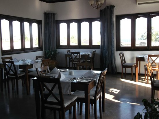 Kisiwa House: Inside the breakfast and dinner room