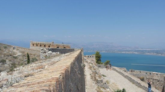 Hotel Golden Beach Tolo : Castle ruin in nearby Nafplio