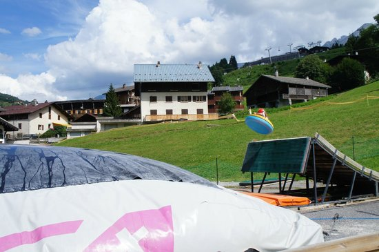 Hotel Alpen Roc: big air bag