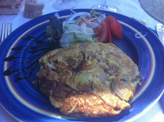 Restaurant Robert : la tortilla aux courgettes et aux oignons (un régal !)