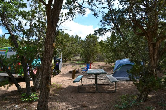 Rancheros de Santa Fe Campground: Tent site