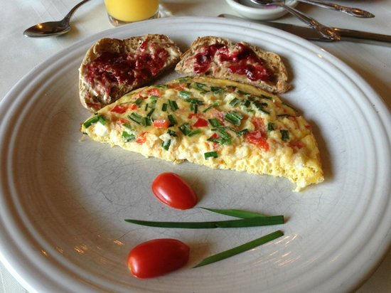 The Borland B&B & Brunch House: Goat cheese frittata