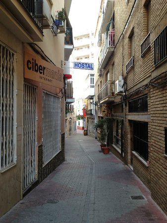 Hostal Altamar de Almunecar: street of the hostel, view from its entrance