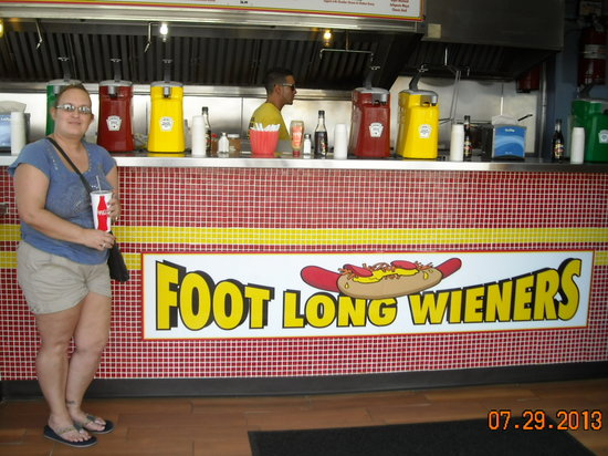 Grab A Wiener: Donna at Grab-a-Weiner on Wildwood NJ Boardwalk