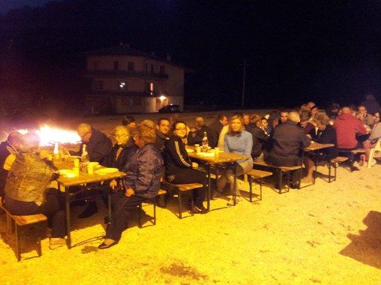 La Sibilla Parco Hotel : Cena all'aperto di saluto