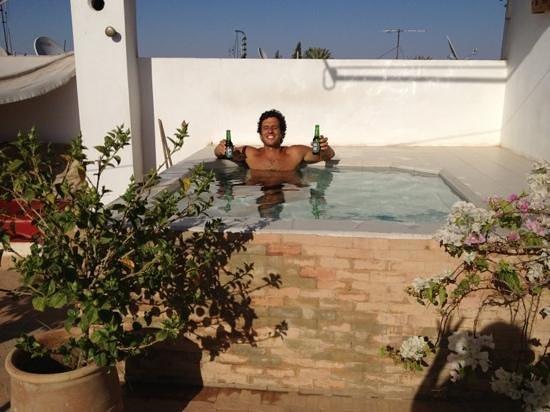 Riad Douceur Mandarine : aperitivo in jacuzzi