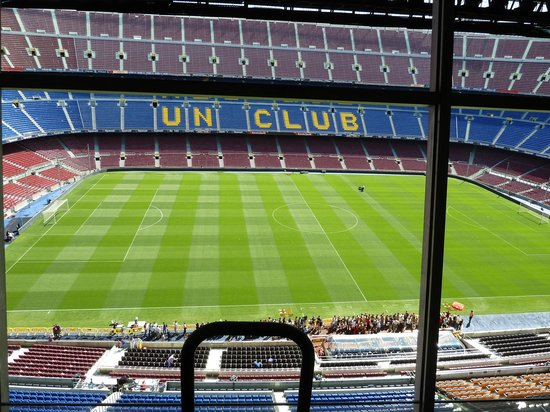 camp nou - view form the top (the journalist's seats) - camp nou