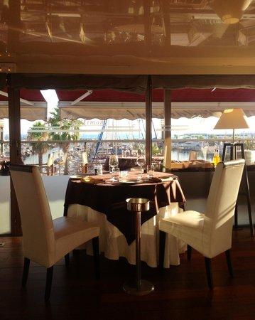 L'Artimon : En veranda avec vu sur le port