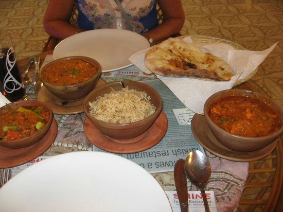 Shine Indian Restaurant: Our feast arrives