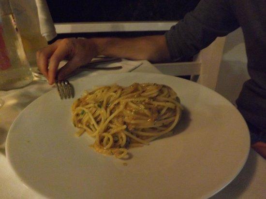 Terrazzamare restaurant: spaghetti ai ricci di mare e bottarga
