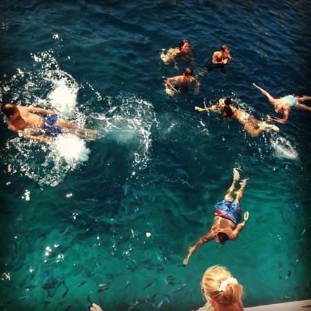 Navetta Sea Star : sosta bagno a Tahiti