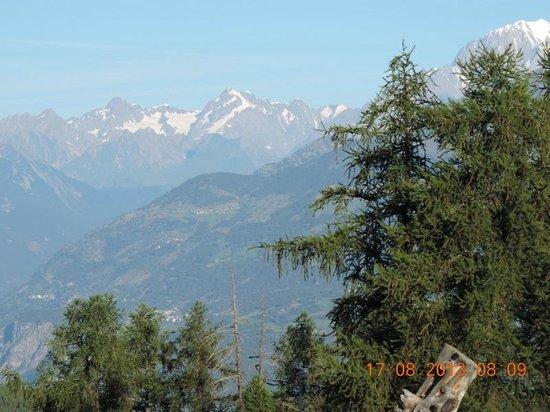 Hotel Chalet Des Alpes : Vue sur les Alpes