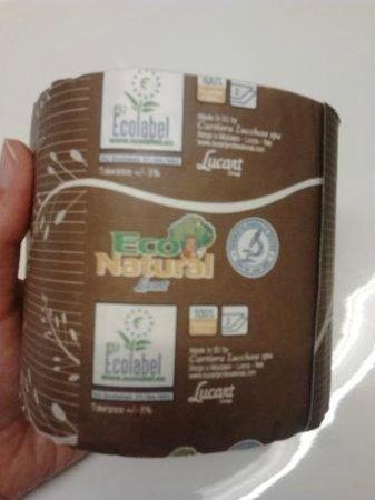 Hotel 3K Europa: Papel de baño reciclado