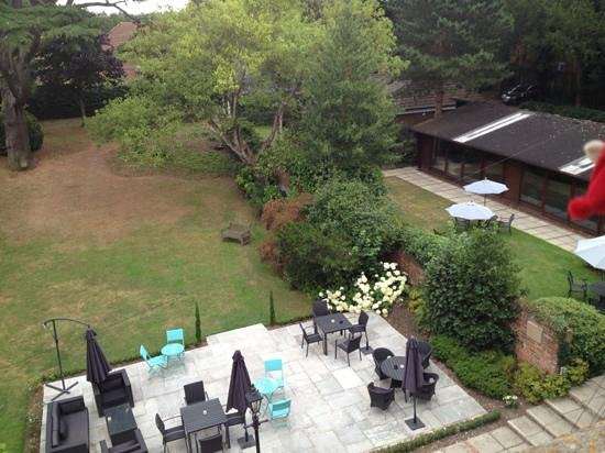 Ebury Hotel and Serviced Apartments : view from the back over swimming pool and garden