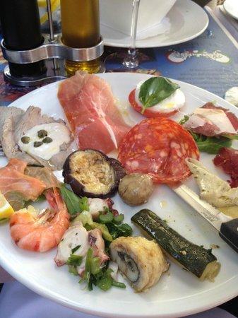 Ristorante Italiano : Antipasto på Fiolstraede