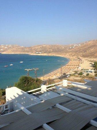 Royal Myconian Resort & Thalasso Spa Center: La vue de notre chambre