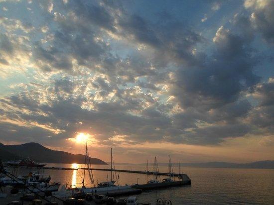 Akti Hotel: wonderful sunset view