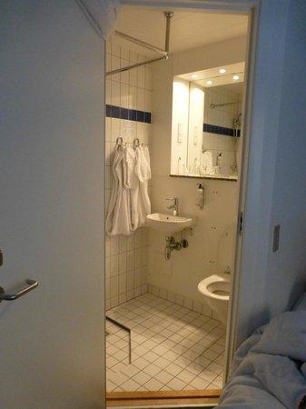 Savoy Hotel: La minuscule SDB (assis sur le WC vous avez les pieds dans la douche)