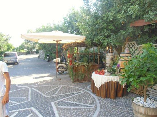 Villa Palmentiello: cortile d'entrata
