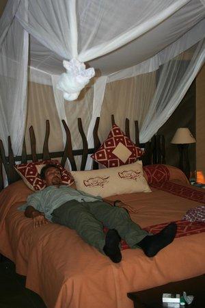 Mara Crossings Camp: sorry...hubby was tired!