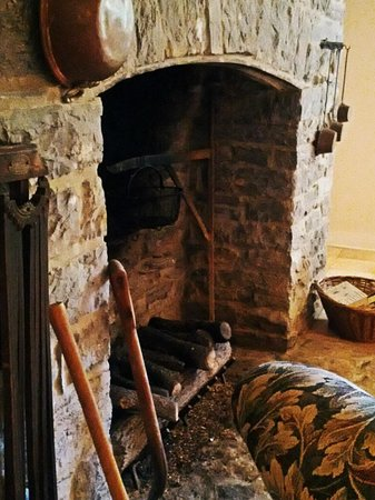 The Inn at Vaucluse Spring : Original Fireplace in the Main House
