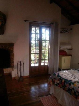 Pousada Refugio do Selado: Interior do chalé macuco