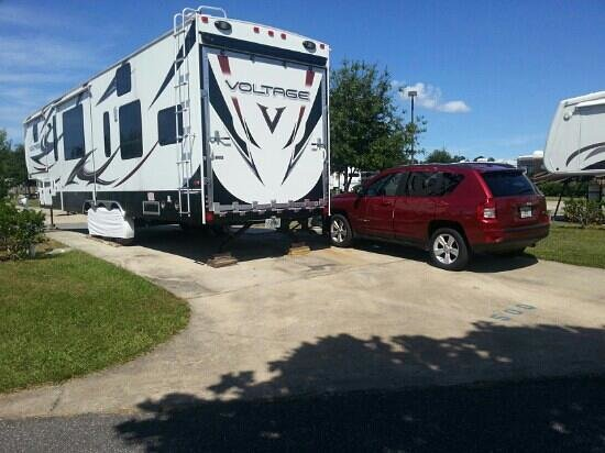 Pecan Park RV Resort: our new home. loving this low cost life style