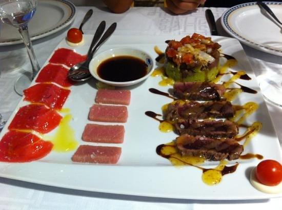 Francisco Fontanilla Restaurante : surtido de atun de almadraba