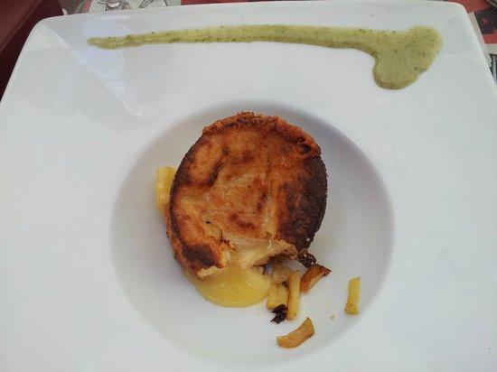 L'Esquisse Gourmande: moelleux au cidre coeur camembert coulant