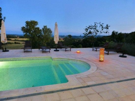 Ferme de Lagrave : Pool and view
