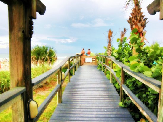 Coconut Palms Beach Resort 1: walkway