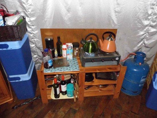 Norfolk Glamping & Yurt Holidays: Cooking facilities