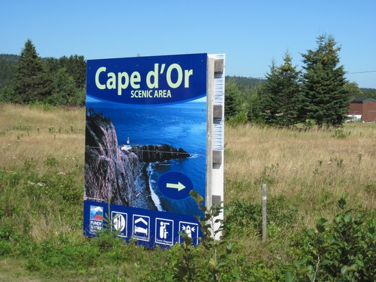 The Lighthouse on Cape d'Or: look for these signs