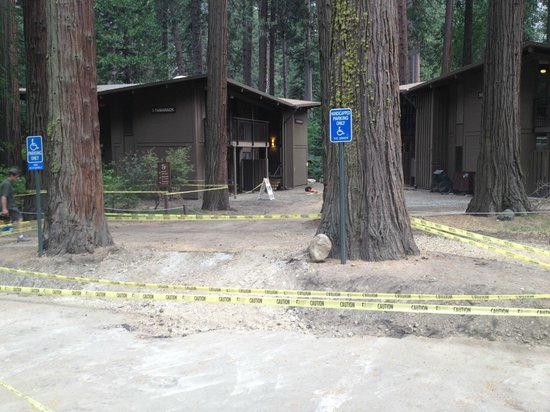 Yosemite Valley Lodge: yellow taped during high season