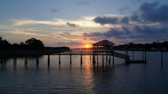Holden Beach: pier off of Greensboro
