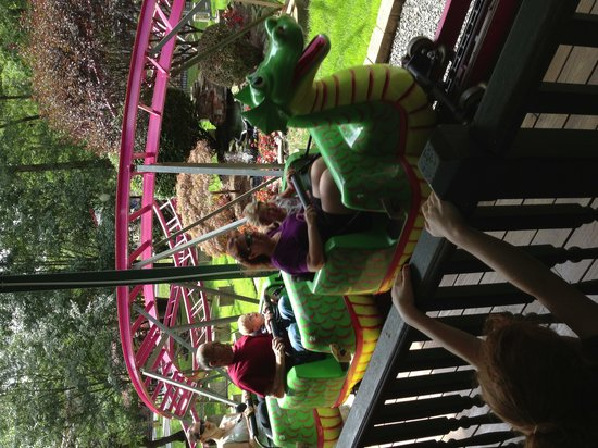 Storybook Land: Bubbles the Dragon rollercoaster