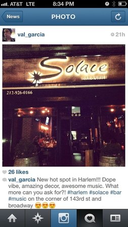 Photo of American Restaurant Solace Bar and Grill at 3496 Broadway, New York, NY 10031, United States
