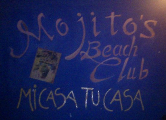 "Mojitos Beach Bar: hé oui ""ma maison ta maison "" on ne peut mieux dire !"