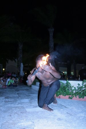 Now Larimar Punta Cana: beach entertaintment.Very cool show.